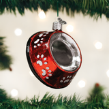 Dog Bowl Glass Ornament