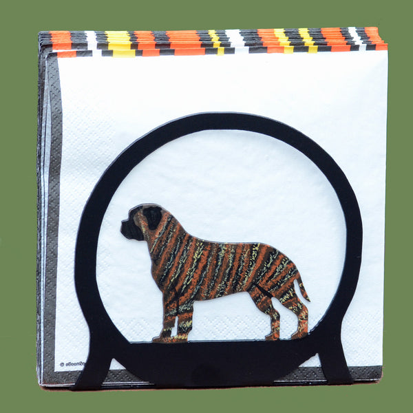 Bullmastiff Napkin/Letter Holder - Brindle