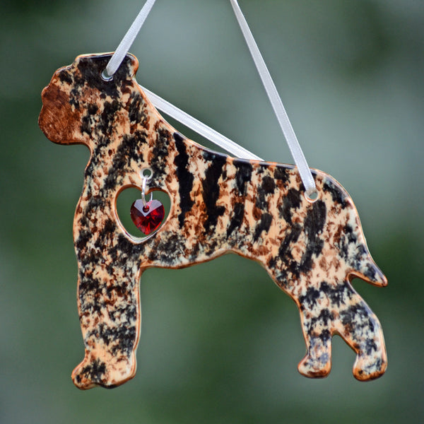 """Porcelain Bullmastiff Ornament"" - Brindle"