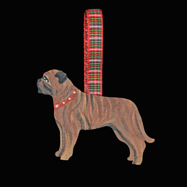 Hand Crafted Bullmastiff Ornament - Brindle