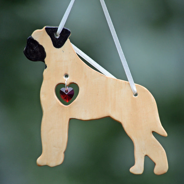 """Porcelain Bullmastiff Ornament"" - Fawn"