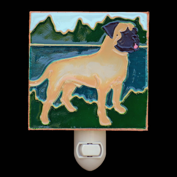 """Stained Glass Bullmastiff Night Light"""