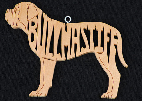 Bullmastiff Wooden Puzzle Ornament