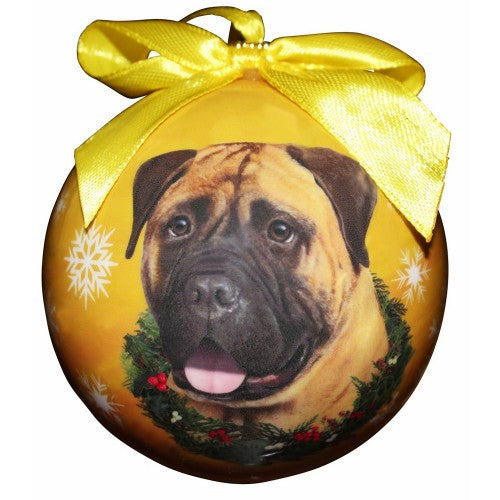 Full Color Bullmastiff Ball Ornament