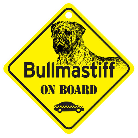 Bullmastiff On Board Sign