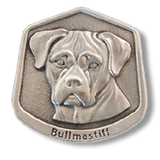 Pewter Bullmastiff Ornament