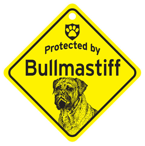Protected By Bullmastiff Sign