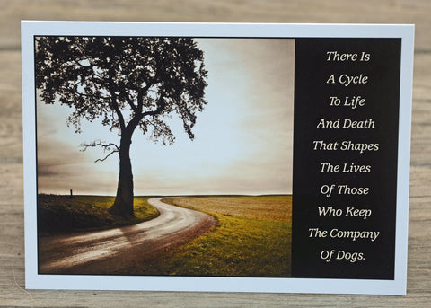A Cycle to Life..., Sympathy Card