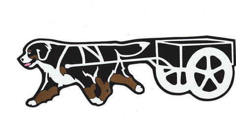 Bernese Carting Decal for Tinted Glass