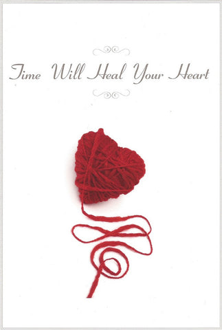 Time Will Heal Your Heart, CAT Sympathy Card 2 pack
