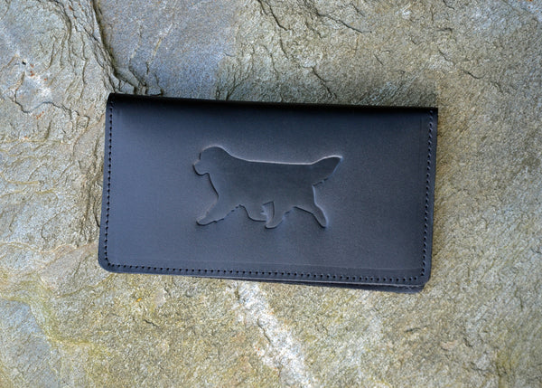leather newfoundland checkbook cover