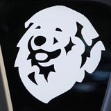 "Pyrenees Decal for Tinted Glass 5.5"" x 6"""