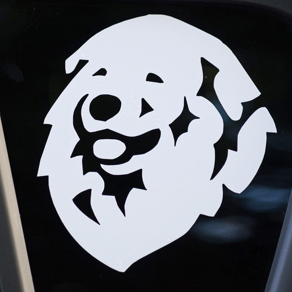 "Pyrenees Decal for Tinted Glass 4.5"" x 4.5"""