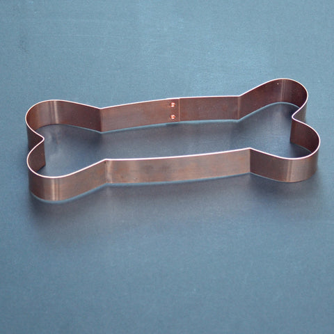 Copper Dog Bone Cookie Cutter