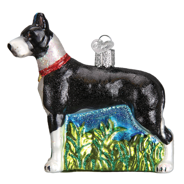 Great Dane Glass Ornament