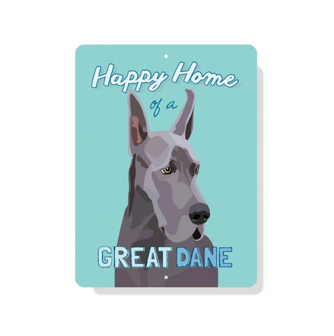 outdoor aluminum great dane sign - cropped