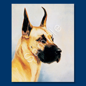 Great Dane Fawn Blank Note Cards