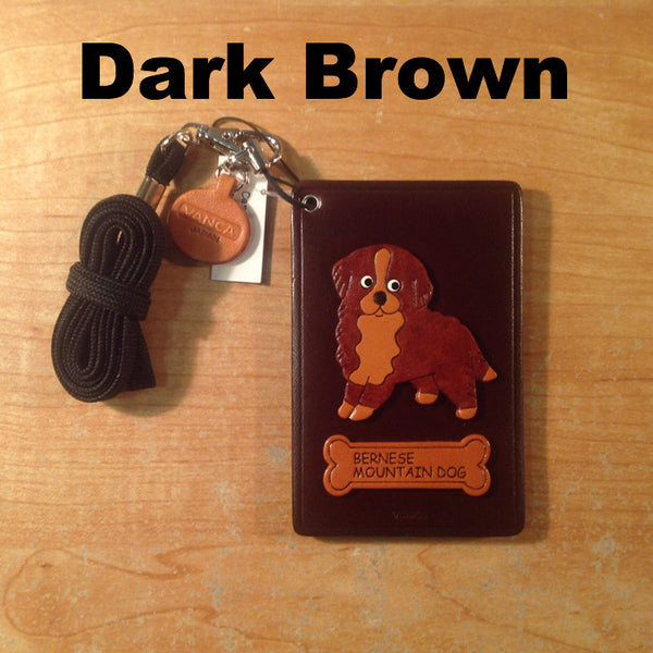 Leather Bernese ID Holder - Imported from Japan