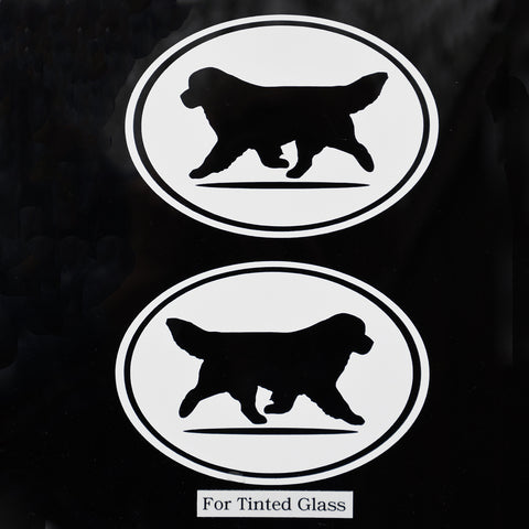 Oval black Newf Decal set For Tinted Glass
