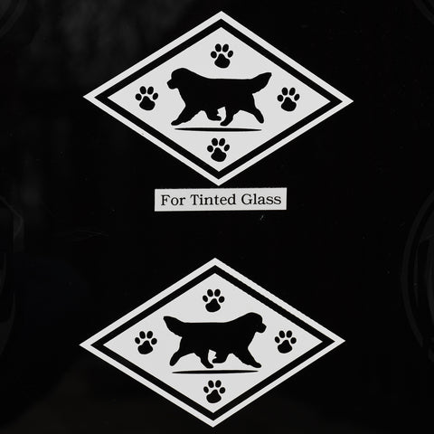 Diamond Newf Decals For Tinted Glass