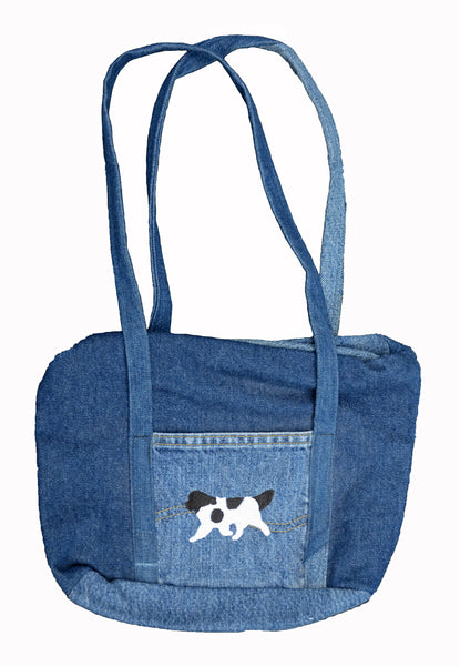 Handmade Newfoundland Denim Purse with Zipper
