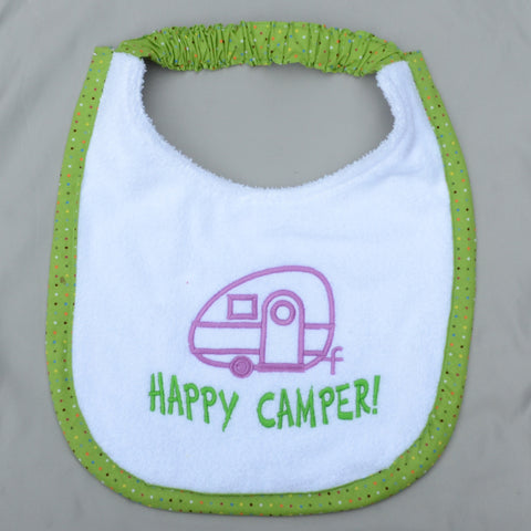 happy camper, Drool Bib