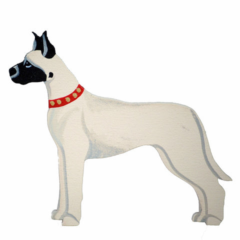 Hand Crafted Great Dane Ornament - Fawn
