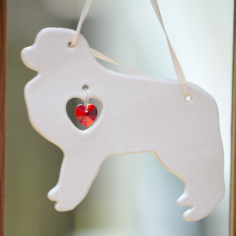 """Porcelain Pyrenees Ornament"""