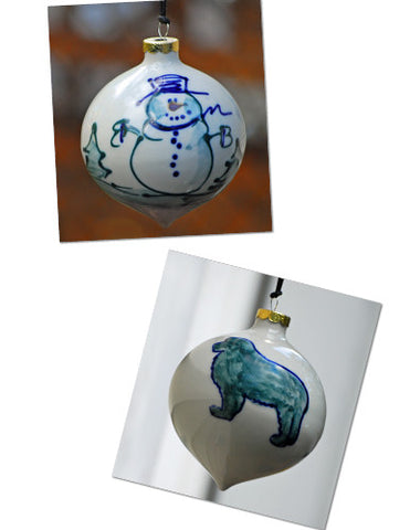 Ceramic Newf Ornament