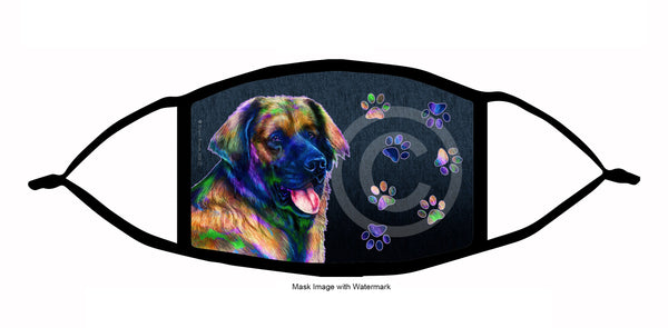 funky pups leonberger face mask