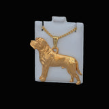 24K Gold Plated Mastiff Pendant w/chain