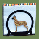 Great Dane Napkin/Letter Holder - Brindle