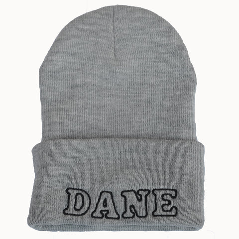 Adult Knit Beanie - DANE, gray & black