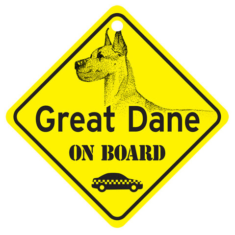 Great Dane On Board Sign - cropped