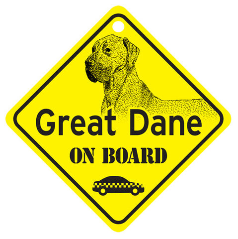 Great Dane On Board Sign - natural