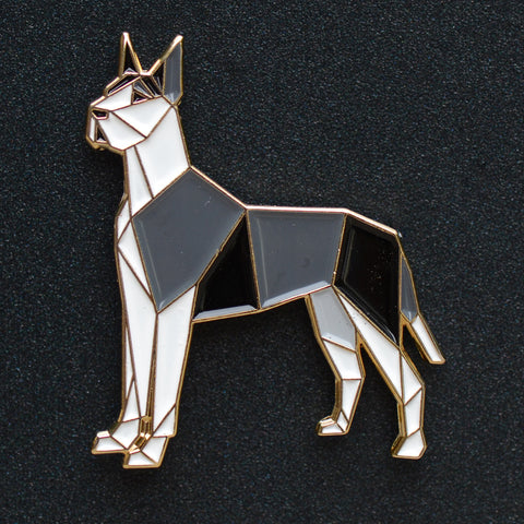 """Great Dane Origami Enamel Pin #1 - NEW"""