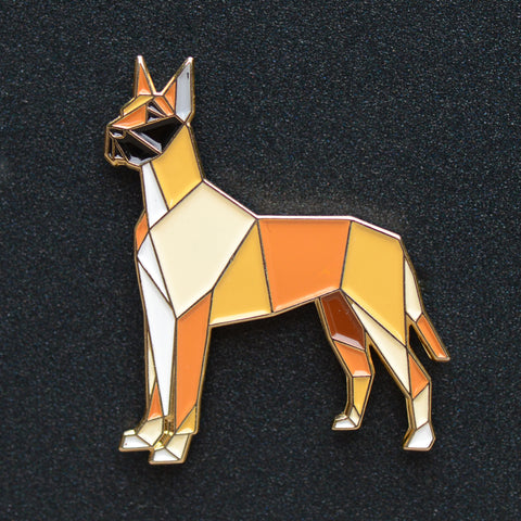 """Great Dane Origami Enamel Pin #2 - NEW"""