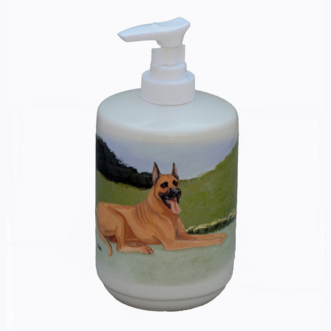 Ceramic Fawn Great Dane Soap Dispenser