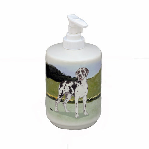 Ceramic Harlequin Great Dane Soap Dispenser