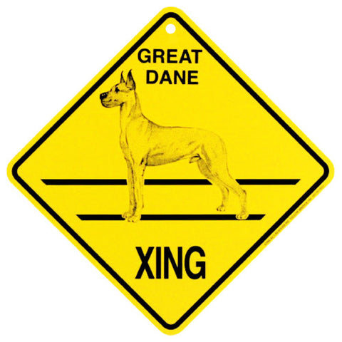 Great Dane Crossing Sign - cropped