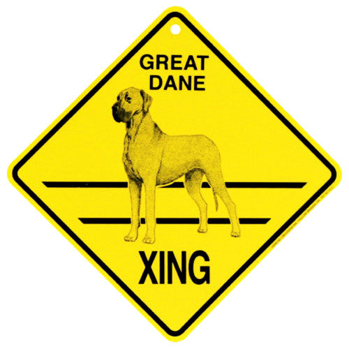 Great Dane Crossing Sign - natural