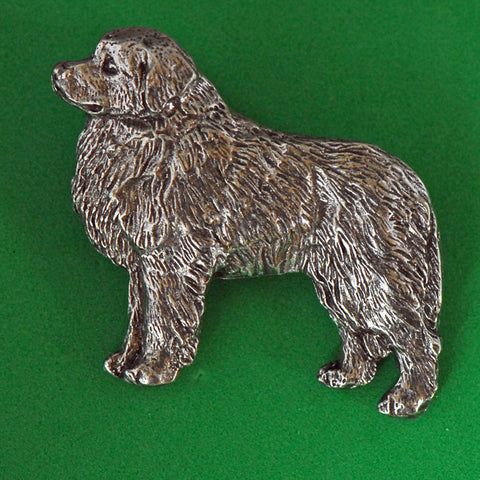 Antiqued Pewter Great Pyrenees Pin