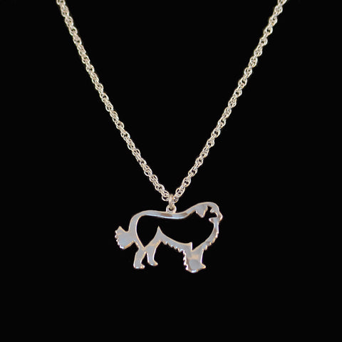 """Sterling Silver Pyrenees Pendant & Chain"""