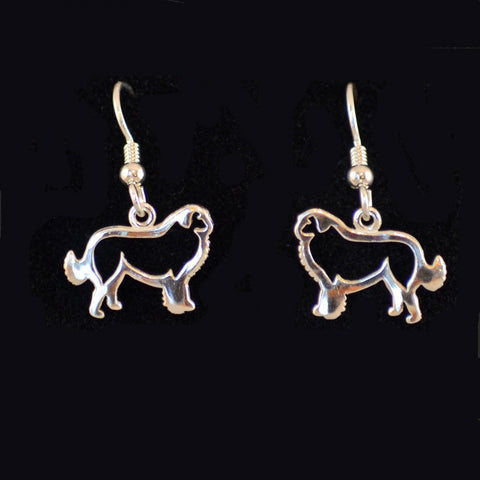 """Sterling Silver Great Pyrenees Earrings"""