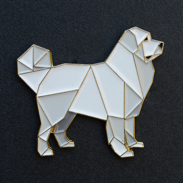 Great Pyrenees Origami Enamel Pin - NEW