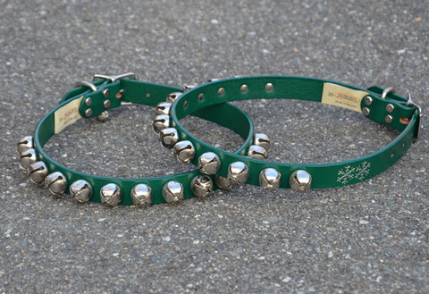 """Jingle Bell Collar"" - Large 22"" to 26"", green only"