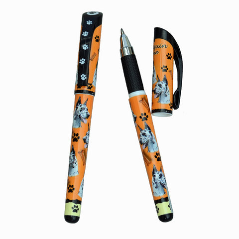 Great Dane Gel Pen - Harlequin