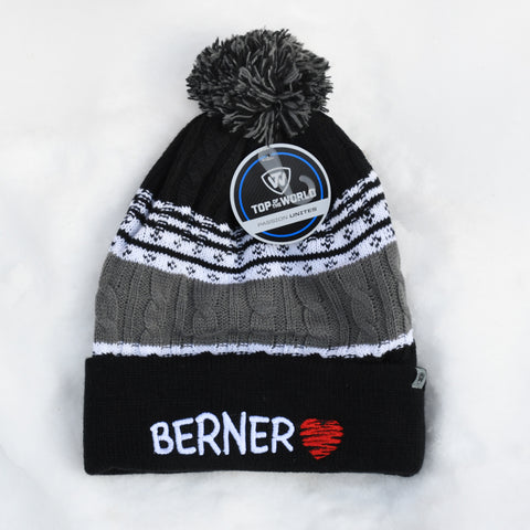BERNER knit hat, black