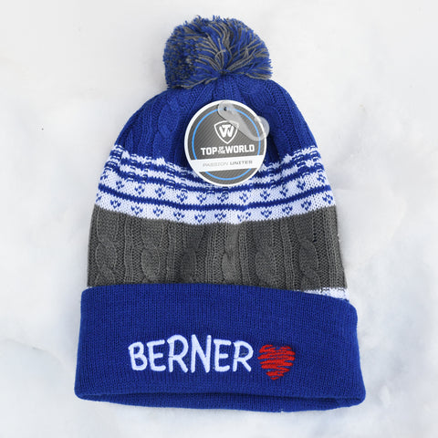 BERNER knit hat, blue