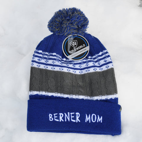 BERNER MOM knit hat, blue